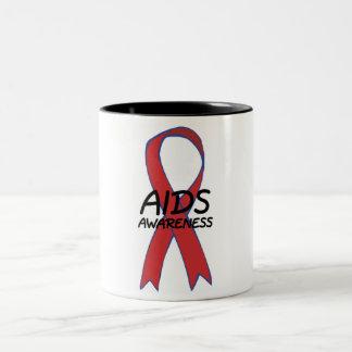 Aids Ribbon Two-Tone Coffee Mug