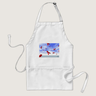 Aids Ribbons Floating in the Sky Adult Apron