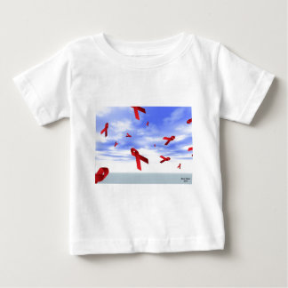 Aids Ribbons Floating in the Sky Baby T-Shirt