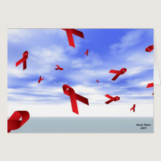 Aids Ribbons Floating in the Sky Card