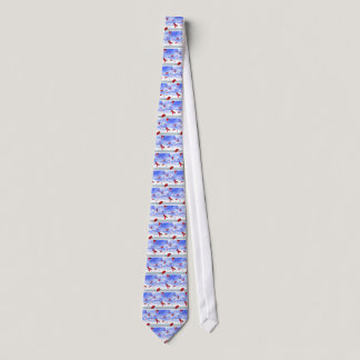 Aids Ribbons Floating in the Sky Neck Tie
