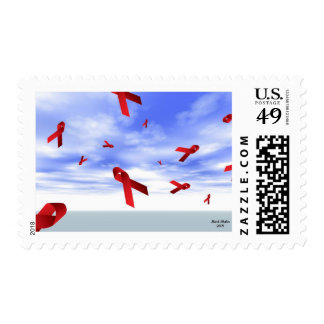 Aids Ribbons Floating in the Sky Stamp