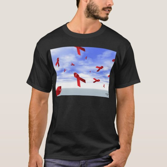 Aids Ribbons Floating in the Sky T-Shirt