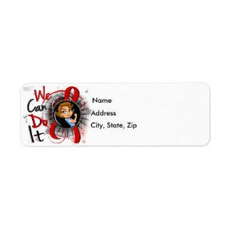 AIDS Rosie Cartoon WCDI Label