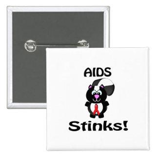 AIDS Stinks Skunk Awareness Design Buttons