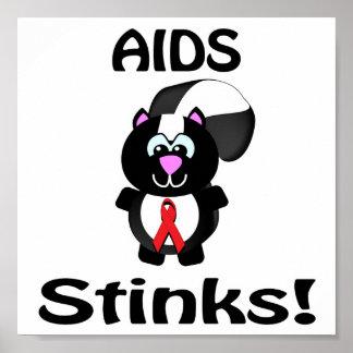 AIDS Stinks Skunk Awareness Design Poster