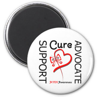 AIDS Support Advocate Cure 2 Inch Round Magnet