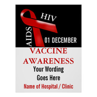 Aids vaccine awareness campaign  Personalize Poster
