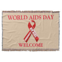 Aids world day | Personalize Throw Blanket