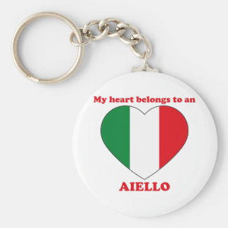 Aiello Basic Round Button Keychain
