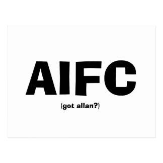 AIFC, (got allan?) Postcard