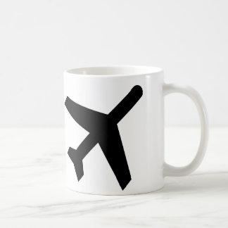 AIGA Departures Sign (Airplane) Classic White Coffee Mug