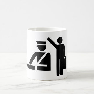 AIGA Flight Arrivals Classic White Coffee Mug
