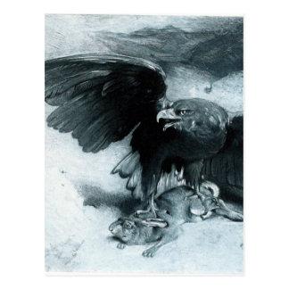 Aigle y Lapin por León Bonnat Postales