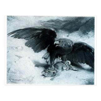 Aigle y Lapin por León Bonnat Tarjeta Postal