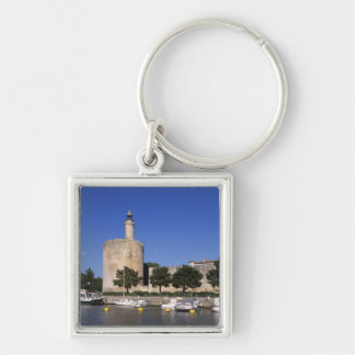 Aigues Mortes, Rhone and Sete Canal, Gard, Silver-Colored Square Keychain