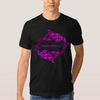 Aihe (Dolphins) Tee or Hoodie - Pink on Black