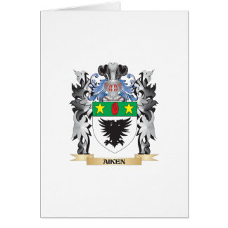 Aiken Coat of Arms - Family Crest Greeting Card