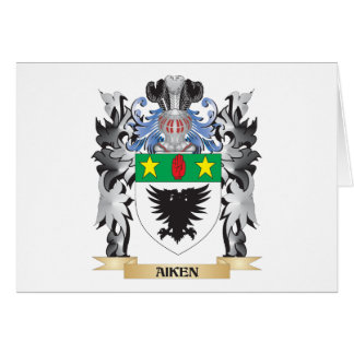 Aiken Coat of Arms - Family Crest Stationery Note Card