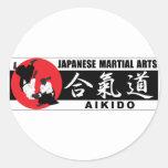 Aikido 2 pegatina redonda