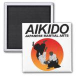 Aikido 3 fridge magnets