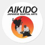 Aikido 3 pegatina redonda