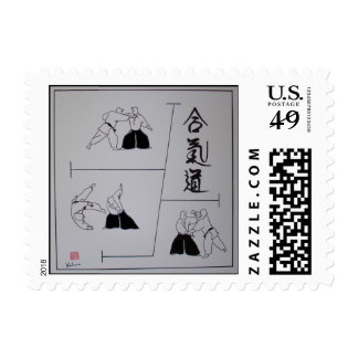 """Aikido """"arte de los amos """" estampillas"""
