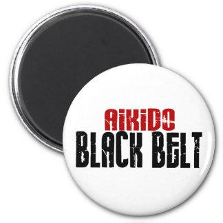 Aikido Black Belt 2 Inch Round Magnet