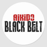 Aikido Black Belt Stickers