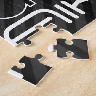 Aikido; Black & Dark Gray Stripes Jigsaw Puzzle