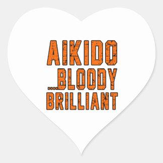 Aikido Bloody brilliant Heart Sticker