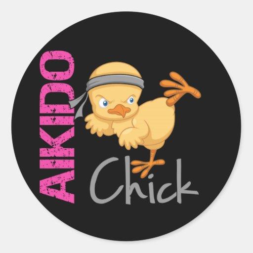Aikido Chick Sticker