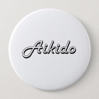 Aikido Classic Retro Design Pinback Button