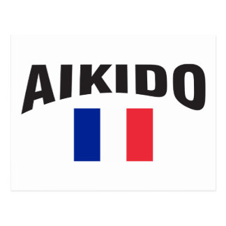 Aikido France French Flag Postcard
