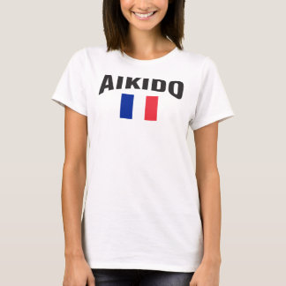 Aikido France French Flag T-Shirt