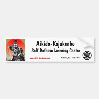 Aikido-Kajukenbo, Self Defe... Bumper Sticker
