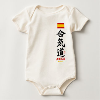 Aikido Kanji Spain Infant Organic Creeper