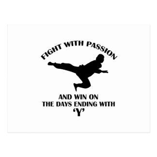 aikido martial design postcard