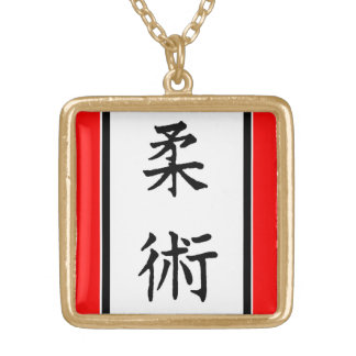 AIKIDO MMA KARATE GOLD PLATED NECKLACE
