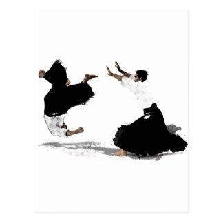 Aikido nage post card