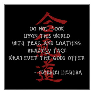 Aikido Quote Poster