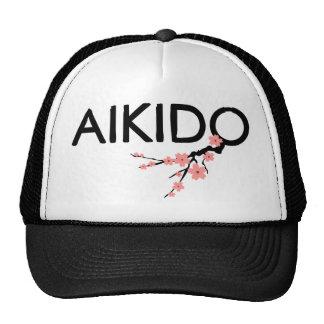 Aikido Sakura Text Hats