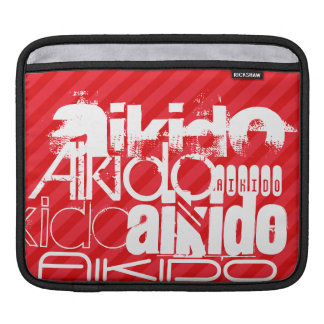 Aikido; Scarlet Red Stripes iPad Sleeves