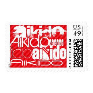 Aikido; Scarlet Red Stripes Postage