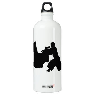 Aikido Silhouette Aluminum Water Bottle