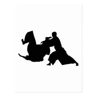 Aikido Silhouette Postcard
