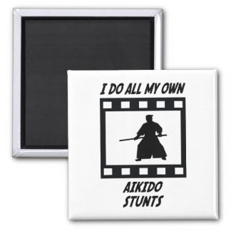 Aikido Stunts 2 Inch Square Magnet