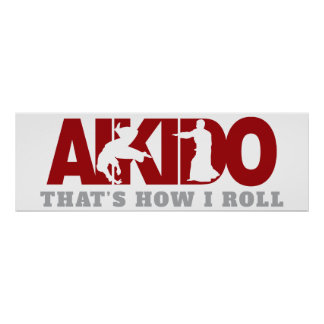Aikido Thats How I Roll Poster