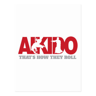 Aikido Thats How They Roll Postcard