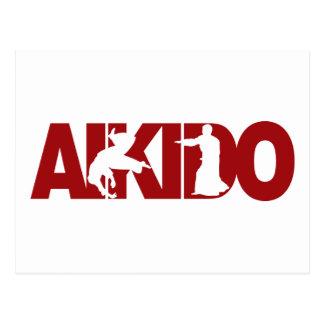 Aikido Throw Postcard